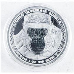 5000 Francs Congo Gorilla .999 Fine Silver  Round - Collector Bullion.