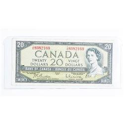 Bank of Canada 1954 20.00 Modified Portrait  B/R