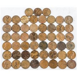 Lot (50) USA Lincoln Cents, better Dates