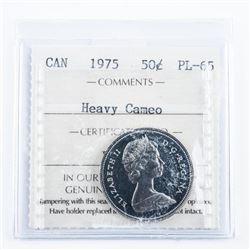 1975 Canada 50 Cent PL65. ICCS