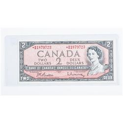 Bank of Canada 1954 2.00 *Replacement Note  Modified Portrait (BB) B/R GEM UNC