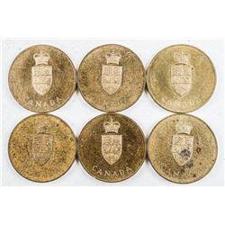 Lot (6) Canada 1867-1967 Confederation Medals  'Coat of Arms'