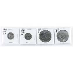 Group (4) US Coins: 1919-1971