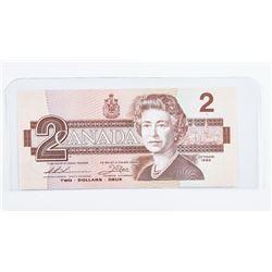 Bank of Canada 1986 2.00 Choice UNC (BBK)