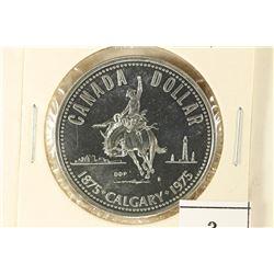 1975 CANADA CALGARY SILVER DOLLAR BRILLIANT UNC