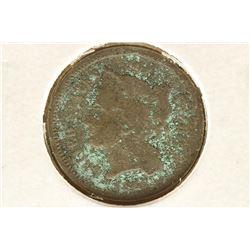 1865 THREE CENT PIECE (NICKEL) WITH VIRDIGRIS