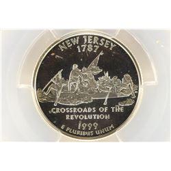 1999-S SILVER NEW JERSEY QUARTER PCGS PR69 DCAM