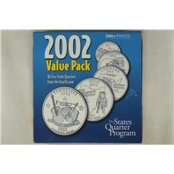2002 VALUE PACK ALL 5 STATE QUARTERS ON INFO