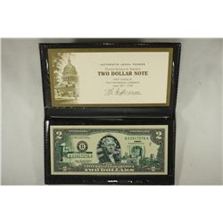 2003-A $2 FRN WITH OHIO OVERPRINT IN FOLIO
