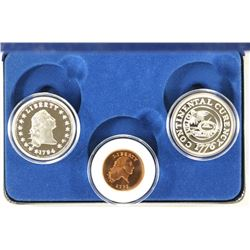 3 REPLICA COINS IN CASE FROM NATIONAL COLLECTORS