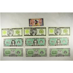 10 PIECES OF CHINESE HELL BANK NOTES CRISP UNC