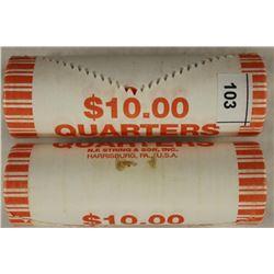 2-$10 ROLLS OF 2009-P GUAM QUARTERS BU