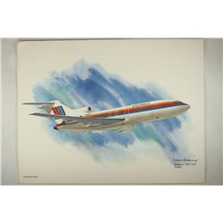 8 1/2'' X 11'' FRAMEABLE COLOR PRINT OF BOEING 727