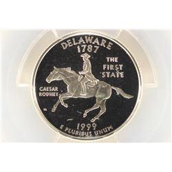 1999-S SILVER DELAWARE QUARTER PCGS PR69 DCAM