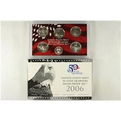 2206 SILVER 50 STATE QUARTERS PROOF SET WITH BOX