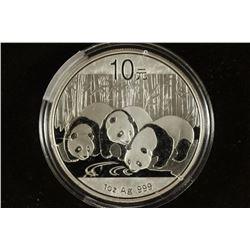 2013 CHINA SILVER 10 YUAN PANDA BRILLIANT UNC