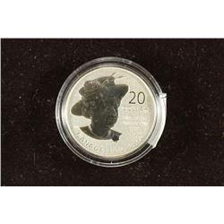 1952-2012 CANADA FINE SILVER $20 QUEEN DIAMOND