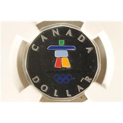 2010 CANADA COLORIZED LUCKY LOONIE SILVER DOLLAR