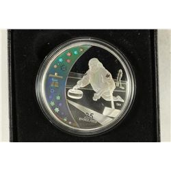 2007 CANADA STERLING SILVER PROOF $25 CURLING