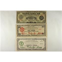 3 PIECES OF WWII PHILIPPINES EMERGENCY CURRENCY