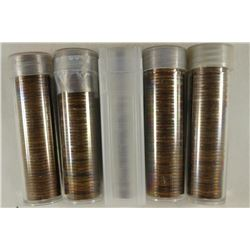5 SOLID DATE ROLLS OF CANADA CENTS 1946, 1947,