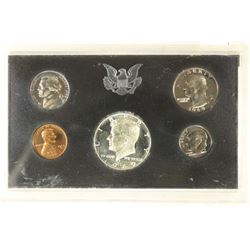 1969 US PROOF SET WITHOUT BOX, 40% SILVER JFK HALF