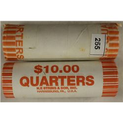 2-$10 ROLLS OF 2000-P SOUTH CAROLINA AND