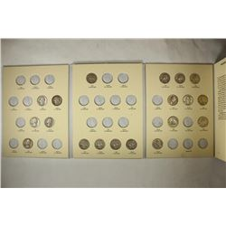 PARTIAL ALBUM OF 1948-1964 WASHINGTON SILVER