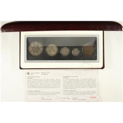 CANADIAN 90TH ANNIVERSARY COIN SET ALL STERLING