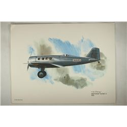 "8 1/2'' X 11'' COLOR PRINT OF NORTHROP ""ALPHA"" 2"