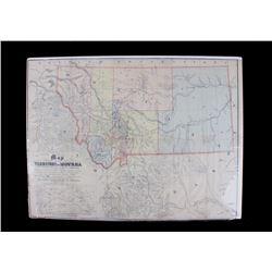 1865 Montana Territory Map by W.W. de Lacy
