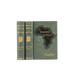 1890 1st Ed In Darkest Africa by Henry M. Stanley