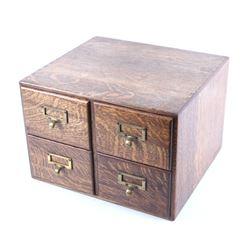 Macey Quarter Sawn Oak Cabinet Postcard Collection
