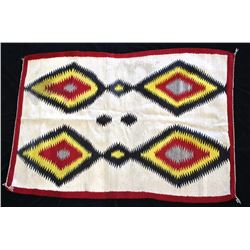 Navajo Crystal Eye Dazzler Trading Post Rug c.1950