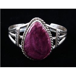 Navajo B Lee Purple Spiny Oyster Sterling Bracelet