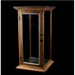 1890's Quarter Sawn Oak Mercantile Display Cabinet
