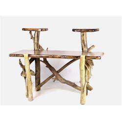 Rustic Multi-Platform Pine Log Desk