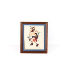 "Navajo Gouache ""Fancy Dancer"" by Beatein Yazz"