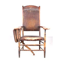 Late 1800s Ford Johnson & Co Fold Out Desk Chair