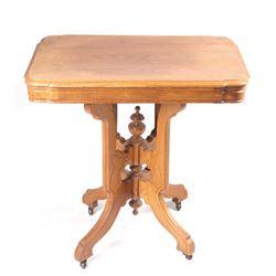 Victorian Eastlake Oak Parlor Table C Early 1900's