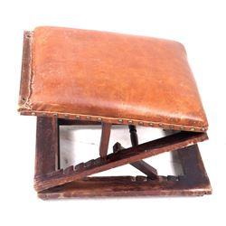 Carter Maker Adjustable Rolling Foot Stool C 1880s