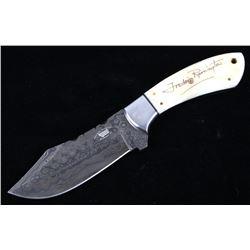 M.T. Frederic Remington Signed Damascus Knife