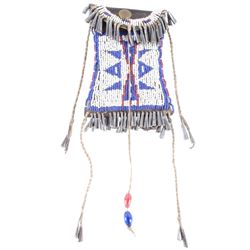 Northern Cheyenne Beaded Strike-A-Lite Bag 19th C.