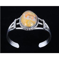 Navajo B. Lee Bumble Bee Jasper & Silver Bracelet