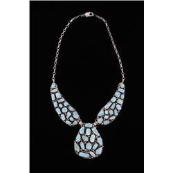 Navajo Betta Lee Larimar Sterling Silver Necklace