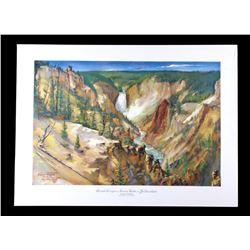Carl Tolpo Yellowstone Park c. 1953 Litho's (25)