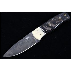 M.T. Knives of Bozeman Rams Horn Damascus Knife