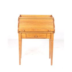Quarter Sawn Oak Roll-Top Writing Desk