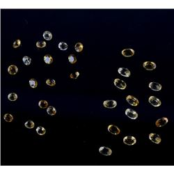 17 Carats of Loose Oval & Round Citrine Gemstones