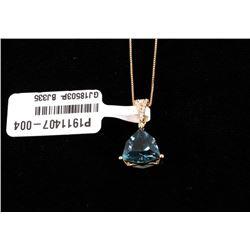 London Blue Topaz & Diamond 14K Necklace